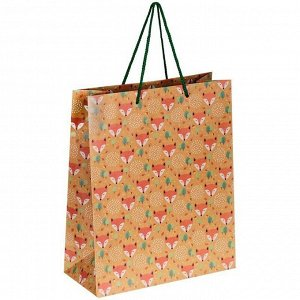 """Пакет подарочный 26*32*12см ArtSpace """"Cute fox"""", крафт"""