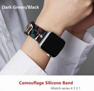 Силиконовый ремешок для Apple Watch Band Premium камуфляж 42-44mm