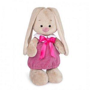 Зайка Ми в платье в розовую полоску (большая) мягкая игрушка
