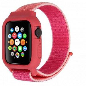 Нейлоновый ремешок для Apple Watch, 42-44mm с защитным корпусом силикон