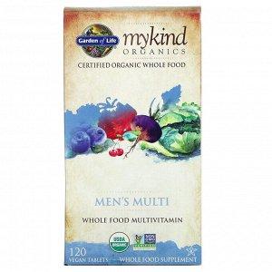 Garden of Life, MyKind Organics, мультивитамины для мужчин, 120 веганских таблеток