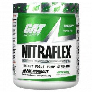 GAT, Sport, NITRAFLEX, зеленое яблоко, 285 г (10,1 унции)