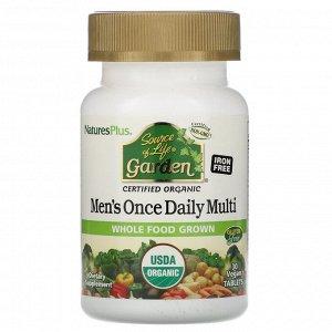 Nature's Plus, Source of Life Garden, мультивитамины для мужчин для приема один раз в день, 30 веганских таблеток