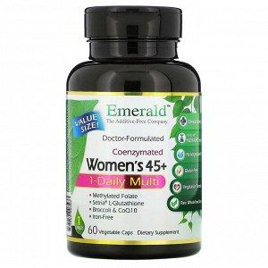 Emerald Laboratories, коферментный мультивитаминный комплекс для женщин от 45 лет, прием 1 раз в день, 60 вегетарианских капсул