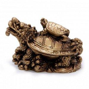 Фигурка Фен-Шуй Черепашка на Дракон-черепахе - оберег на процветание через мудрость 4см-6см