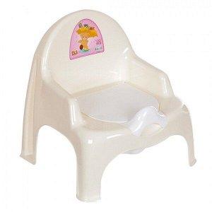Горшок-стульчик детский с крышкой кремовый