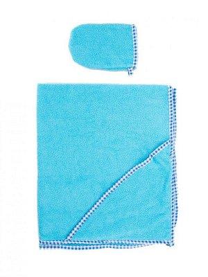 Пеленка-полотенце для купания с варежкой гол.