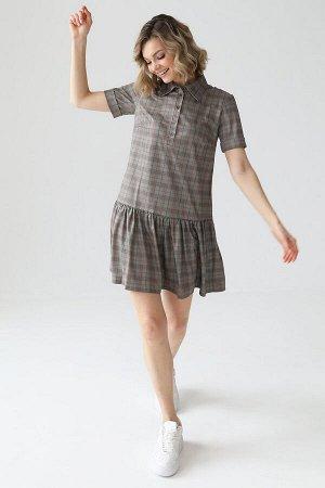 Платье с воланом по низу, 01.055.10.614