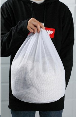 Мешок для стирки , с мелкой сеткой, среднего размера, цвет белый