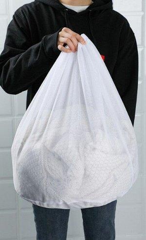 Мешок для стирки , с мелкой сеткой, большого размера, цвет белый