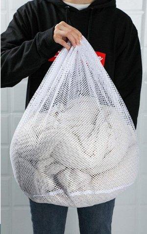 Мешок для стирки , с крупной сеткой, большого размера, цвет белый