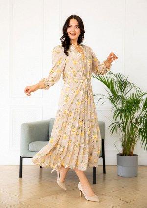 Платье /бежевый