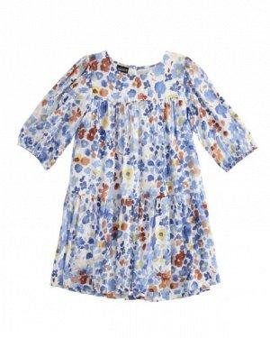 Платье 6SR6/кремовый-мультиколор Наименование: платье Состав: 100% вискоза