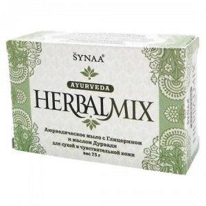 Мыло HerbalMix с глицерином и маслом дурвади Aasha 75г