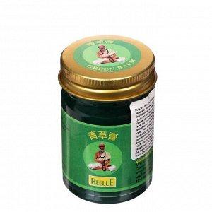 Массажный бальзам зелёный Mho Shee Woke на травах, с болеутоляющим эффектом при отёках и синяках, 50 г