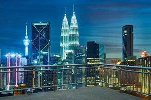 Фотообои Вид с балкона на ночной город