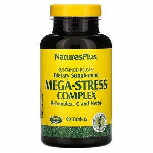 Nature's Plus, Mega-Stress Complex (Мегакомплекс «Антистресс»), 90 таблеток
