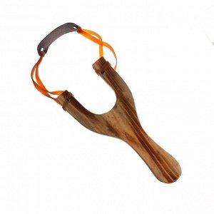 Рогатка деревянная с двойным жгутом