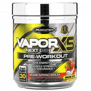 Muscletech, VaporX5, Next Gen, предтренировочный комплекс, со вкусом Miami Spring Break, 272г (9,60унции)