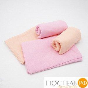 Набор детских пеленок фланель 4 шт 75/120 см Роза/Персик