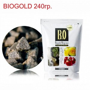 BIOGOLD органические удобрения. Вес  240гр. Прессованые гранулы. Для всех типов растений, в том числе бонсаи и орхидей.