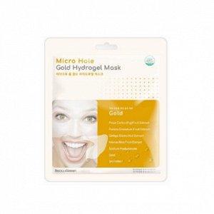 Гидрогелевая маска с золотом BeauuGreen Micro Hole Hydrogel Mask (1ea) - Gold