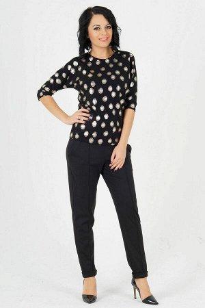 Блуза Блуза из трикотажного полотна с люрексом. Круглый вырез горловины. Цельнокроеный рукав в 42-44 р 43 см, в 46-54 р 45 см. от горловины. Низ прямой. Без застёжки, Без подклада. ДИ в 42-44 р 64 см,