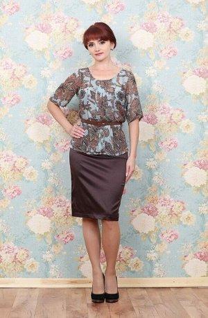 Блуза Блуза прекрасно подойдет для праздничного мероприятия. И подчеркнет индивидуальность Вашего стиля своим оригинальным принтом. Рост модели 168 см. на ней блуза, размер 42.   . Состав полиэст