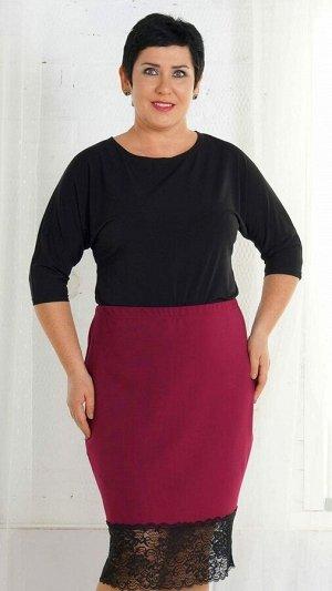 Блуза Блуза свободного кроя из трикотажного полотна. Горловина круглая. Рукав цельнокроенный 46 см. Без застёжки. ДИ в 52 р 70 см. Рост модели 167 см., размер изделия 52. Состав полиэстер 100%. Матери