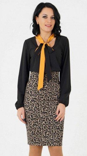 """Блуза Блуза с завязкой """"бант"""". Выполнена из эластичной блузочной ткани. Рукав длина 61 см. Без застёжки. Без подклада. Низ прямой. ДИ в 42-44 р 63 см, в 46-48 р 64 см., в 50-54 р 68 см. Рост модели 16"""