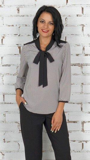 """Блуза Блуза с завязкой """"бант"""" из эластичной блузочной ткани. Рукав длинный 48 см. Без застёжки. Без подклада. Низ прямой. ДИ в 42-44 р 63 см, в 46-48 р 64 см., в 50-54 р 66 см. Размер с 42 по 54 Рост"""