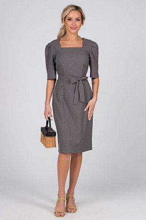 Платье Паулина №1. Цвет:серый/горох