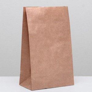 Пакет крафт бумажный фасовочный, прямоугольное дно 24 х 14 х 40 см