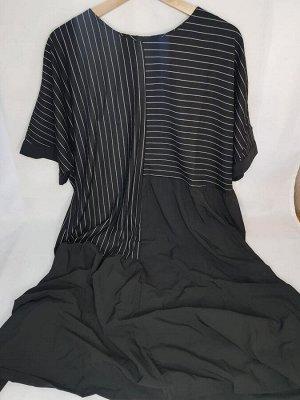 Платье Цвет черный ОГ 140 см, длина 107 см