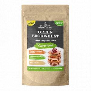 Зеленая гречка, мука, (Green buckwheat, flour) П22, крафт дойпак