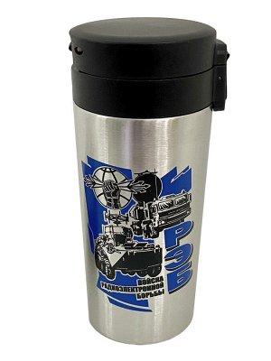 Универсальный термостакан с армейским принтом РЭБ - классный Тамблер с герметичной крышкой с ручкой