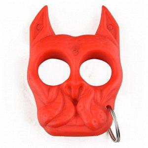 Тактический брелок Brutus Bull-Dog (красный) - Отличное средство самообороны из ударопрочного ABS-пластика. Брелок полностью легален для ношения! Размер - 76х50 мм №103