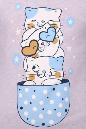 """Костюм для девочки """"Кошки в чашке"""""""