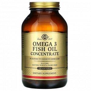 Solgar, концентрат рыбьего жира с омега-3, 120 мягких таблеток