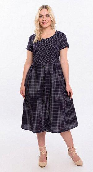 Платье хлопок 5929/11/Темно-синий, черный