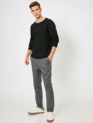 брюки Материал: %40 Akrilik, %30 Polyester, %20 Хлопок, %5 Viskoz, %5 Y?n Параметры модели: рост: 189 cm,грудь: 98,талия: 75,бедра: 95 Modelin Bedeni: 42