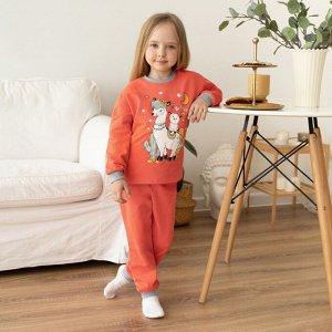 Пижама детская с принтом (футер)