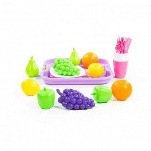 Набор продуктов №2 с посудкой и подносом (21 элемент) (в сеточке)