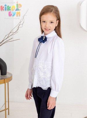 701289 Блуза с длинным рукавом и брошью ModaLora