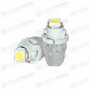Лампа светодиодная Dsign BAX (пластиковый цоколь, T4.7), 12В, 0.48Вт, 6000К, комплект 2 шт