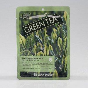 Тканевая маска с зеленым чаем  Real Essense Green Tea Mask Pack 25ml