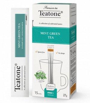 Чай зеленый аромат Мяты TEATONE 15стик*1.8г