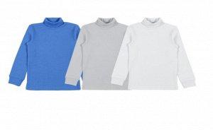 Водолазка для мальчика 61165, цвета (голубой, серый, белый) в ассортименте.