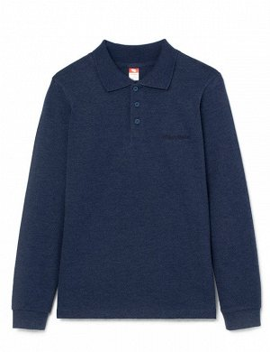 Рубашка-поло для мальчика 62761, синий меланж