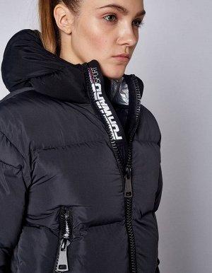 Куртка утепленная женская (серый/черный)